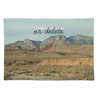 Layers of Red Rock; Customizable Cloth Placemat