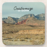 Layers of Red Rock; Customizable Drink Coaster