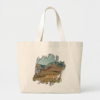 Layers of Red Rock Large Tote Bag
