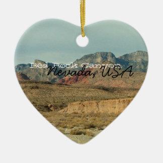 Layers of Red Rock; Nevada Souvenir Ceramic Ornament