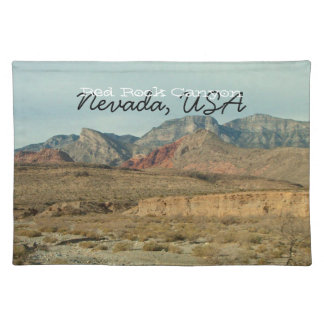 Layers of Red Rock; Nevada Souvenir Cloth Placemat