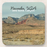 Layers of Red Rock; Nevada Souvenir Beverage Coaster