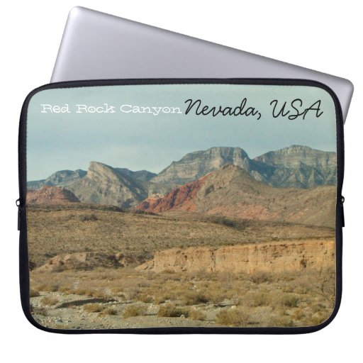 Layers of Red Rock; Nevada Souvenir Laptop Sleeve