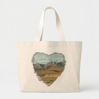 Layers of Red Rock; Nevada Souvenir Large Tote Bag