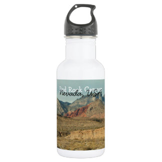 Layers of Red Rock; Nevada Souvenir 18oz Water Bottle