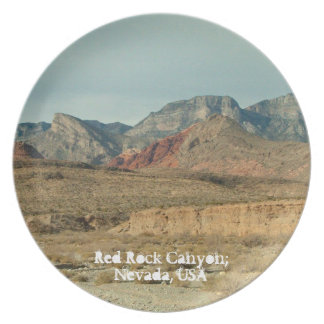 Layers of Red Rock; Nevada Souvenir Plate