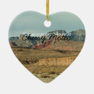 Layers of Red Rock; Promotional Ceramic Ornament