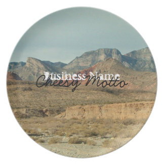 Layers of Red Rock; Promotional Dinner Plate