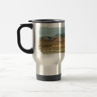 Layers of Red Rock; Promotional Travel Mug