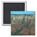 Layers of Red Rocks I in Sedona Arizona 2 Inch Square Magnet