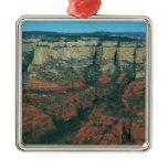 Layers of Red Rocks I in Sedona Arizona Metal Ornament