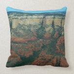 Layers of Red Rocks I in Sedona Arizona Throw Pillow