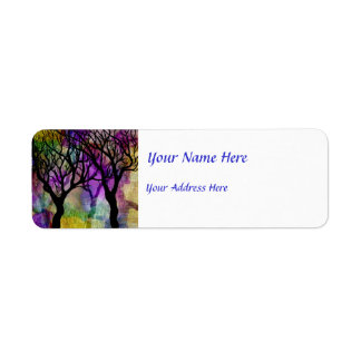 Layers of Trees on Mica Background Label