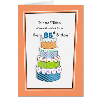 Layers of Wishes 85th or Any Age Birthday Greeting Card