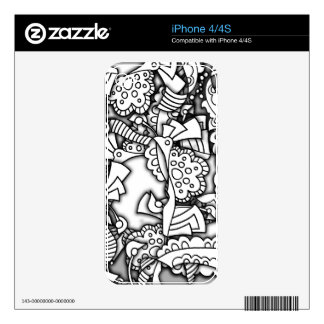 Layery Doodles Series iPhone 4 Skins
