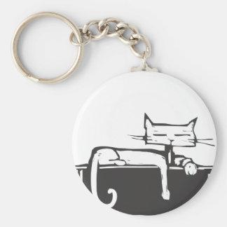 Laying Kitty Key Chains