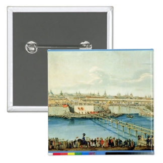 Laying of the Moskvoretsky Bridge in Moscow Button