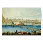Laying of the Moskvoretsky Bridge in Moscow Cards