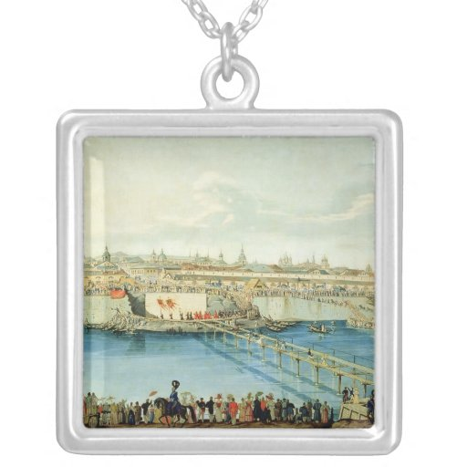 Laying of the Moskvoretsky Bridge in Moscow Necklaces