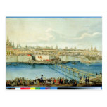 Laying of the Moskvoretsky Bridge in Moscow Post Card