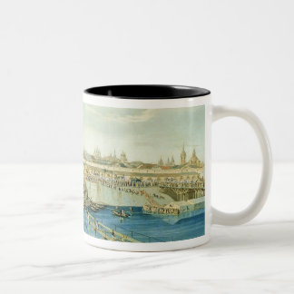 Laying of the Moskvoretsky Bridge in Moscow Two-Tone Coffee Mug