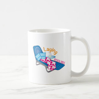 Laying Poolside Basic White Mug