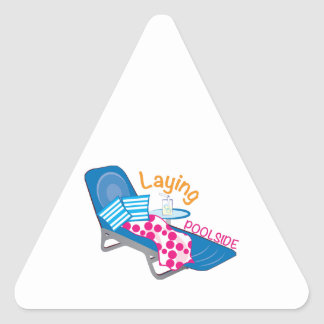 Laying Poolside Triangle Sticker