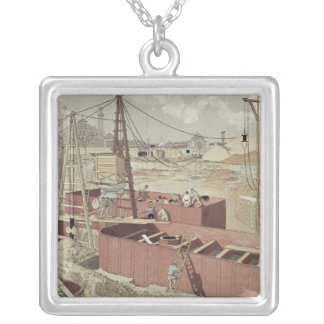 Laying the Foundations for the Eiffel Tower Silver Plated Necklace