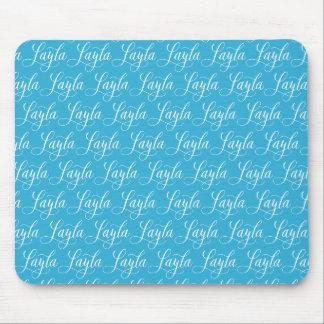 Layla - diseño moderno del nombre de la caligrafía mouse pad
