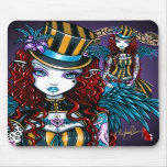 """Layla"" Gothic Fairy Circus Tattoo Sideshow Mousepad"
