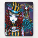 """Layla"" Gothic Fairy Circus Tattoo Sideshow Mouse Pad"