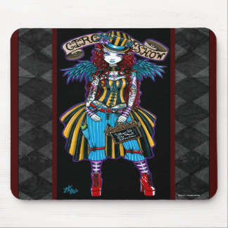 """Layla"" Steampunk Circus Tattoo Sideshow Mousepad"