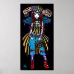 """Layla"" Steampunk Circus Tattoo Sideshow Poster"