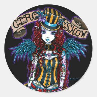 """Layla"" Steampunk Circus Tattoo Sideshow Stickers"