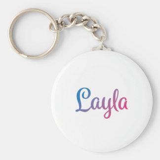 Layla Stylish Cursive Keychain