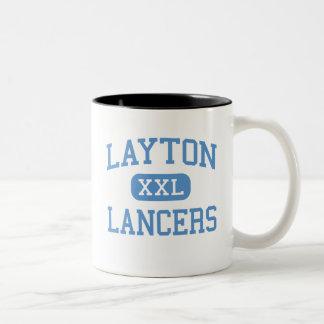 Layton - Lancers - High School - Layton Utah Two-Tone Coffee Mug