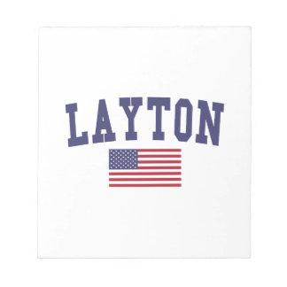 Layton US Flag Notepad