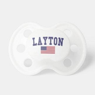 Layton US Flag Pacifier
