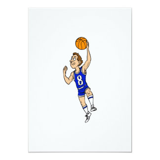 Layup basketball player in blue card