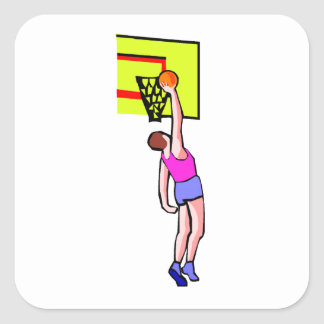 Layup del baloncesto calcomanía cuadradas personalizadas
