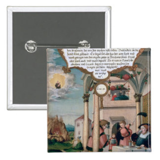 Lazarus and the Rich Man's Table Pinback Button