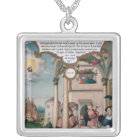 Lazarus and the Rich Man's Table Silver Plated Necklace