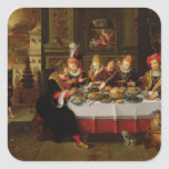 Lazarus and the Rich Man's Table Square Sticker