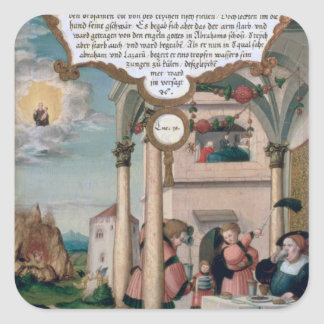 Lazarus and the Rich Man's Table Square Sticker
