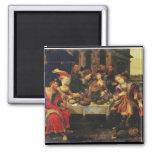 Lazarus en la tabla del hombre rico, 1618 (aceite  imán