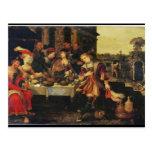 Lazarus en la tabla del hombre rico, 1618 (aceite  tarjetas postales