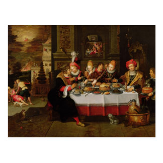 Lazarus y la tabla del hombre rico tarjetas postales