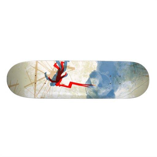 Lazers to the face! custom skateboard