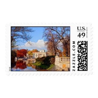 Lazienki Park in Warsaw Postage