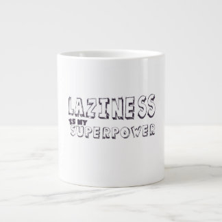 Laziness is my superpower large coffee mug